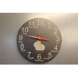Slate clock with your own design