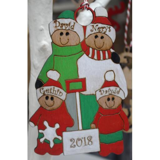 Christmas Personalised Tree Decoration