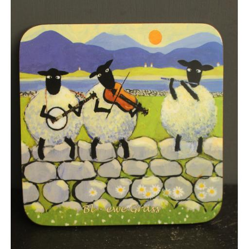 Coasters - Thomas Joseph's sheep coasters with silly ewe titles
