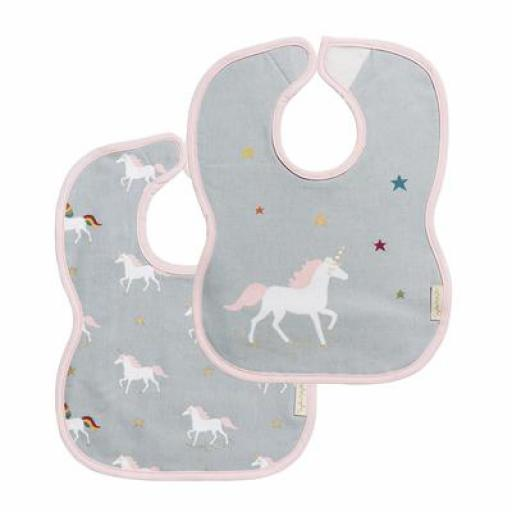 Bibs (Set of 2) - Unicorns