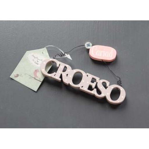 Hanging 'Croeso'