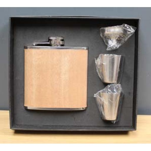 Hip Flask - Wood