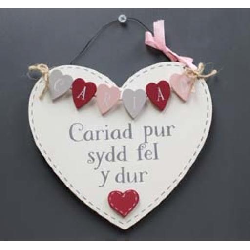 Hanging Heart - 'Cariad pur sydd fel y dur'