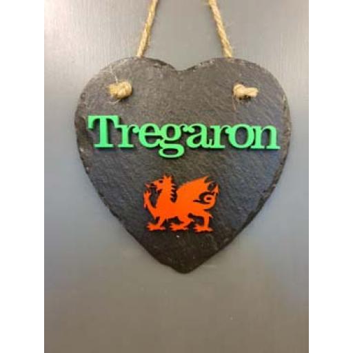 Bespoke Slate 'Tregaron' Heart