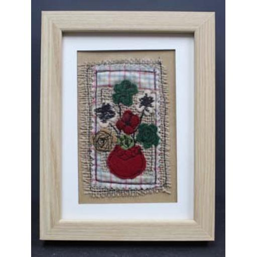 Framed Applique - Red