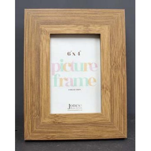 Blank frame 6x4 dark wood