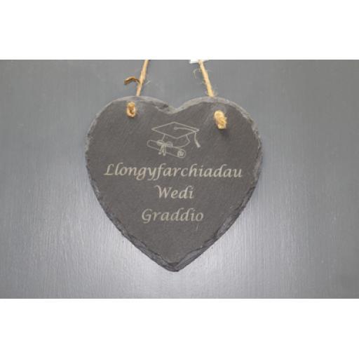 Bespoke Slate Graduation Heart