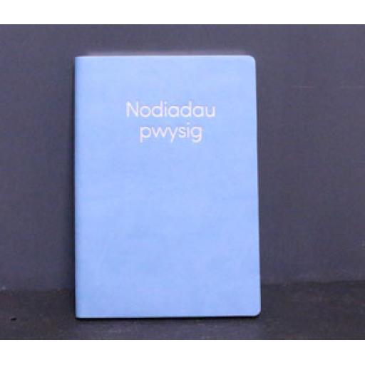 Notebook - 'Nodiadau Pwysig'