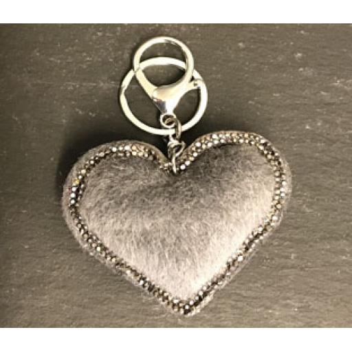 Keyring - Grey Heart