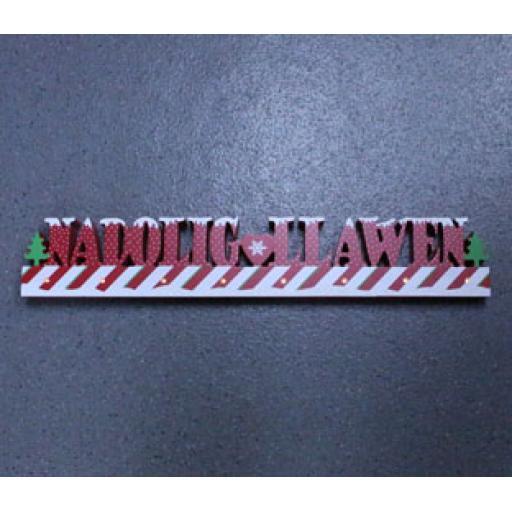 LED 'Nadolig Llawen' Sign